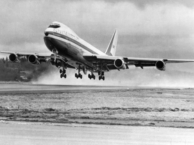 First Takeoff of Boeing 747